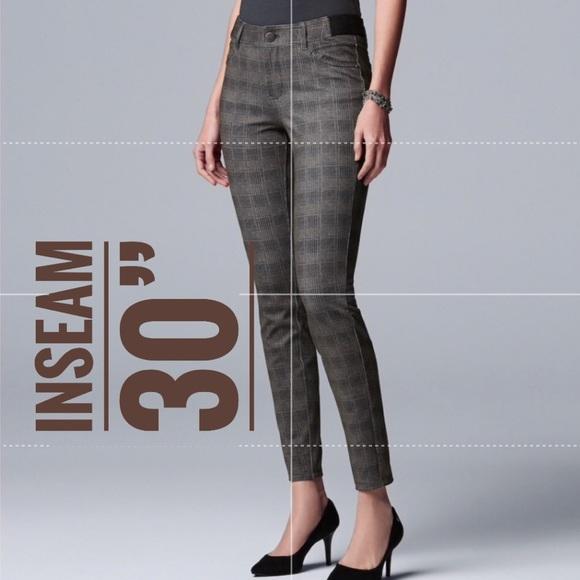 fdf062e8056 Women s SIMPLY VERA WANG Ponte Skinny Pants